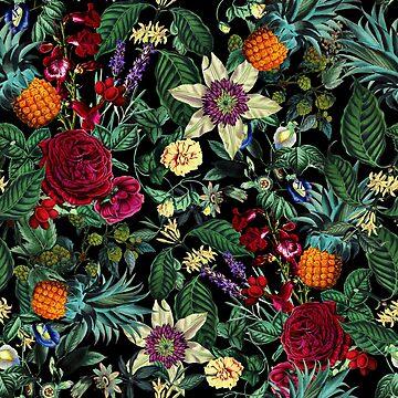 Floral and Fruit pattern by burcukyurek