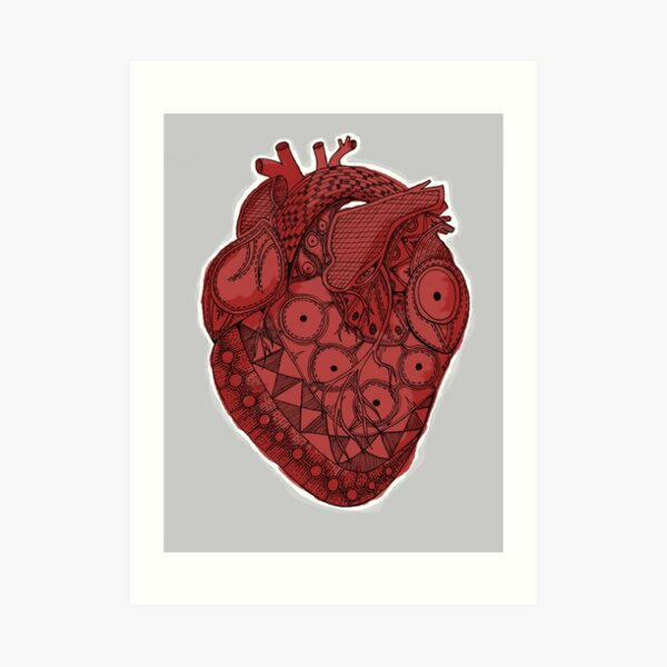 My Inupiaq Heart - Red Art Print