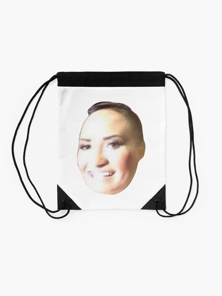 Alternate view of Poot Lovato Meme Drawstring Bag