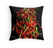 Chili On Black Throw Pillow