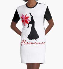 Flamenco Flower Dance Spanish Spain Dancer Gift Graphic T-Shirt Dress