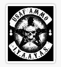 USAF AMMO Skull and Pisspots Sticker