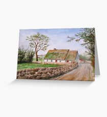 Traditional Irish Thatched Cottage Greeting Card