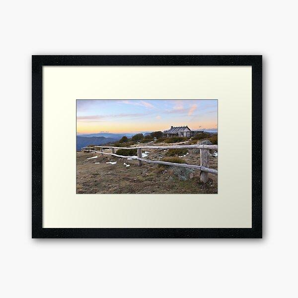 Craig's Hut, Mt Stirling, Australia Framed Art Print