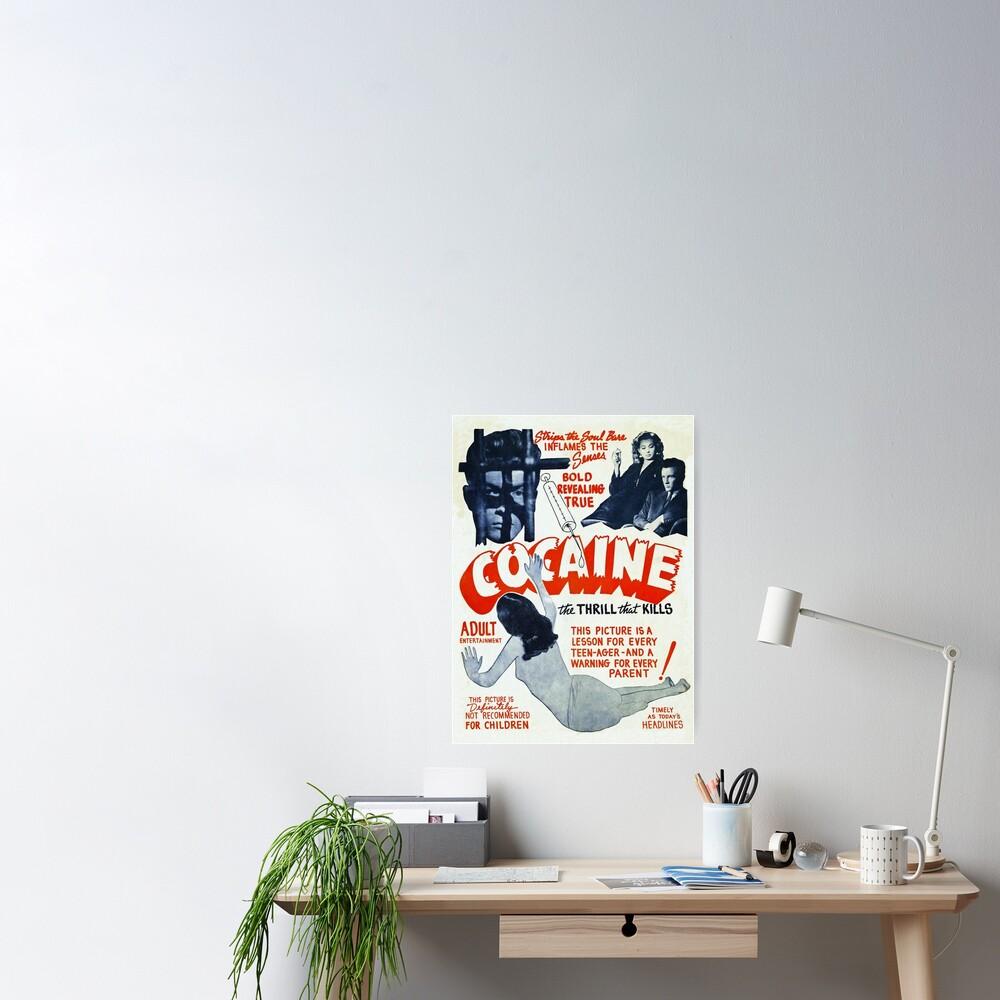 Cocaine Vintage Ad Poster