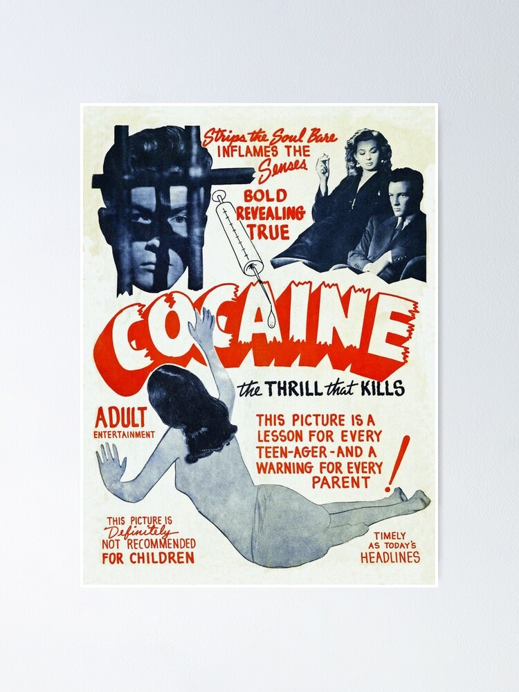 Alternate view of Cocaine Vintage Ad Poster