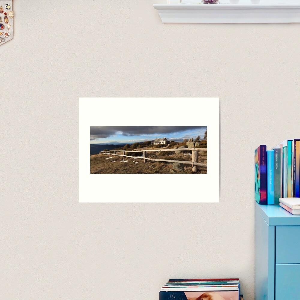 Craig's Hut, Winter Afternoon, Mt Stirling, Australia Art Print
