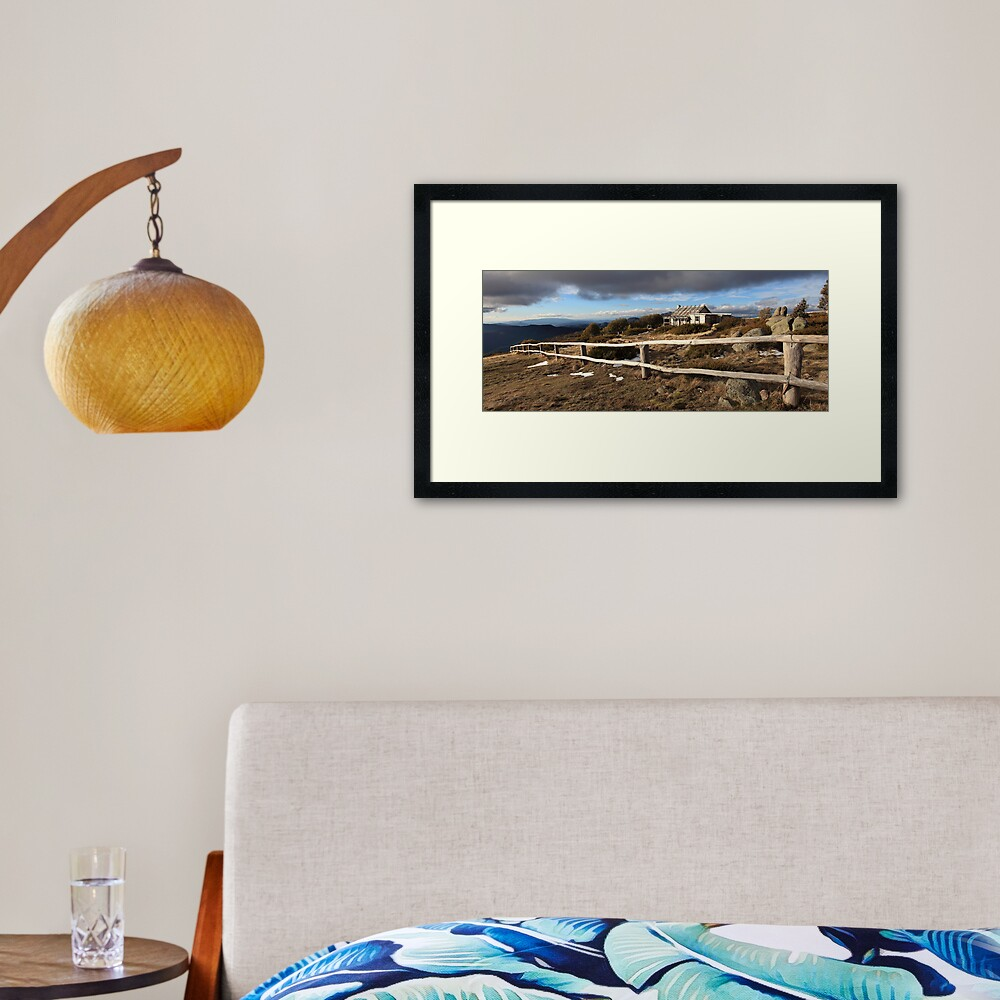 Craig's Hut, Winter Afternoon, Mt Stirling, Australia Framed Art Print