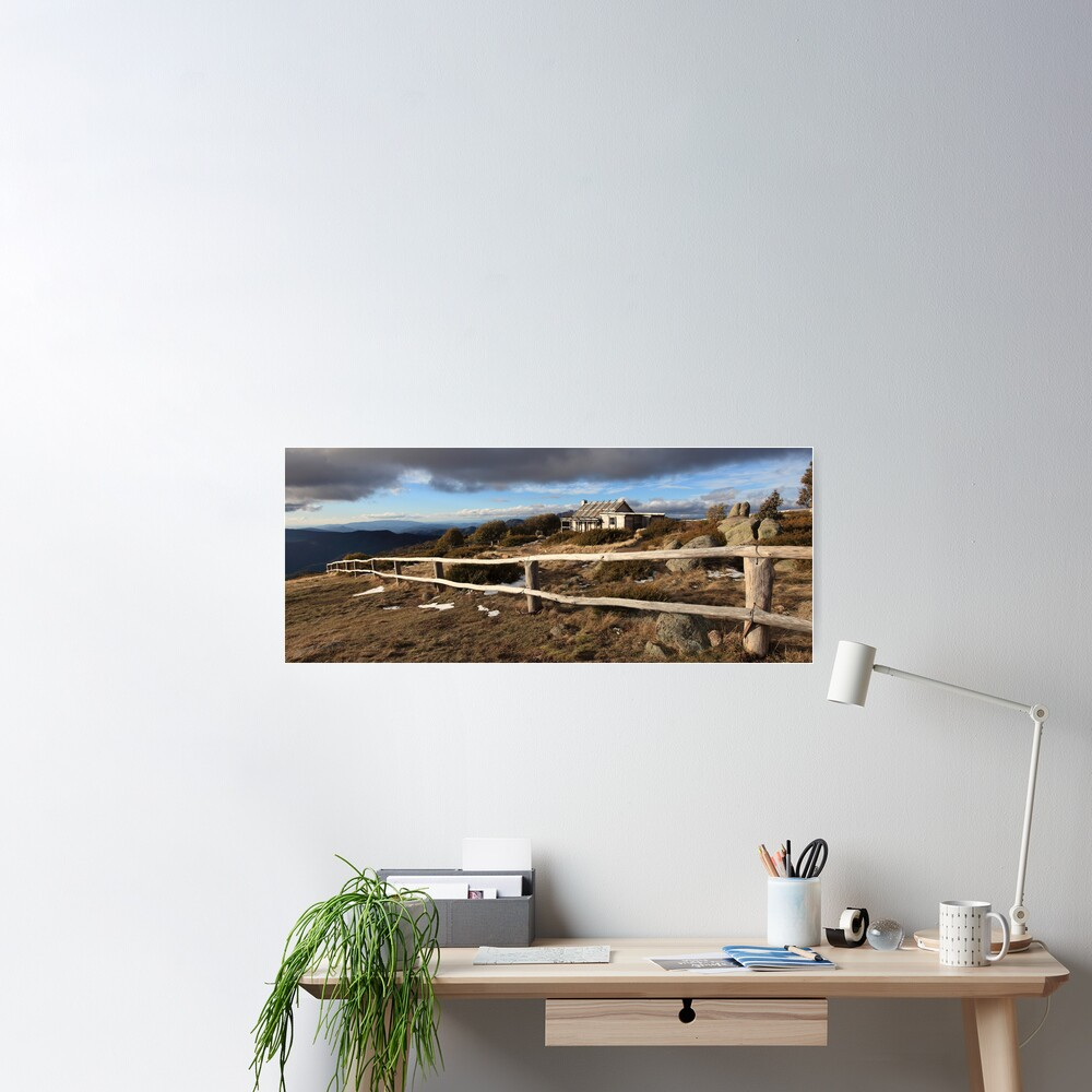 Craig's Hut, Winter Afternoon, Mt Stirling, Australia Poster