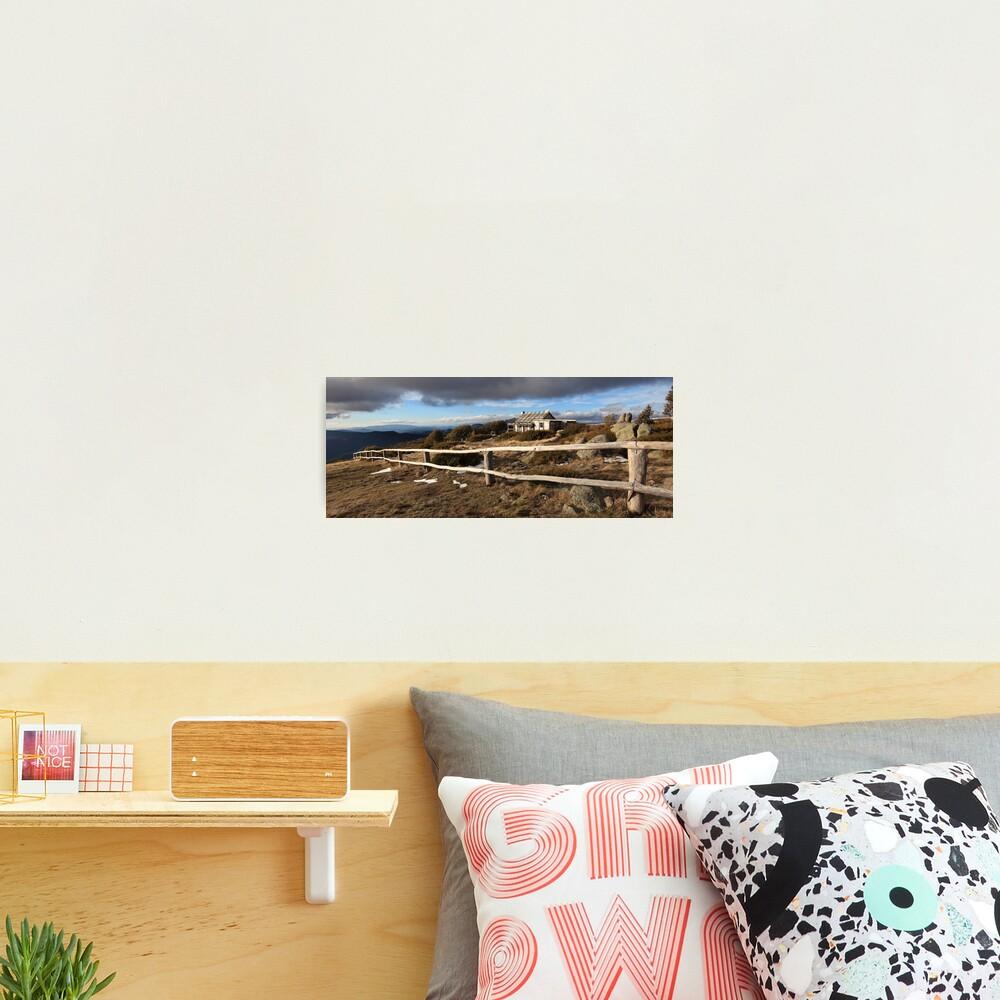 Craig's Hut, Winter Afternoon, Mt Stirling, Australia Photographic Print