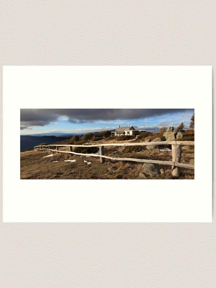 Alternate view of Craig's Hut, Winter Afternoon, Mt Stirling, Australia Art Print