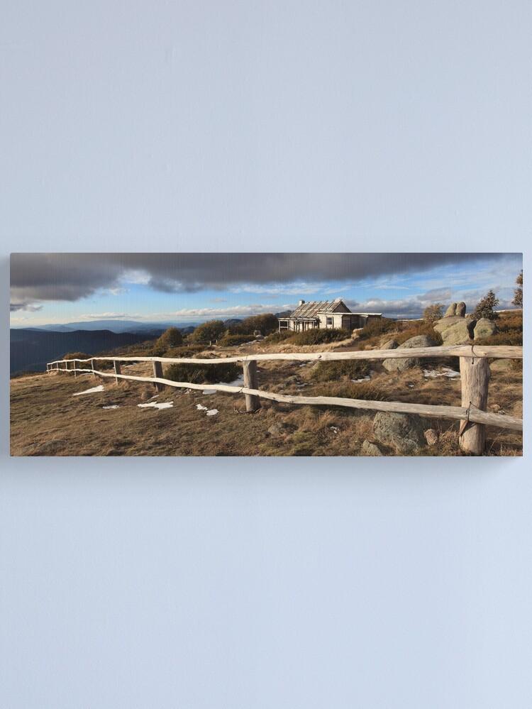 Alternate view of Craig's Hut, Winter Afternoon, Mt Stirling, Australia Canvas Print