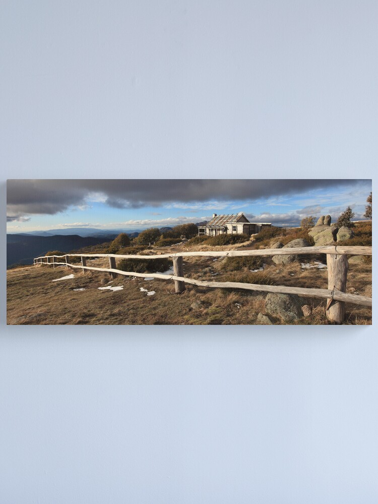 Alternate view of Craig's Hut, Winter Afternoon, Mt Stirling, Australia Canvas Print
