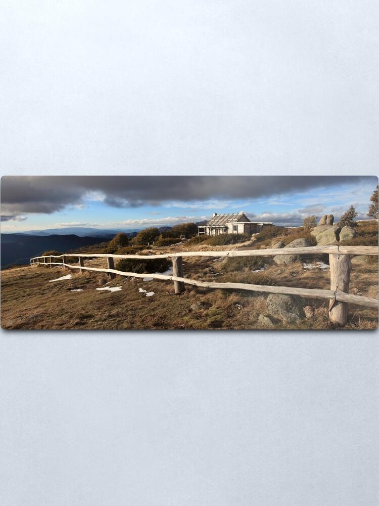 Alternate view of Craig's Hut, Winter Afternoon, Mt Stirling, Australia Metal Print