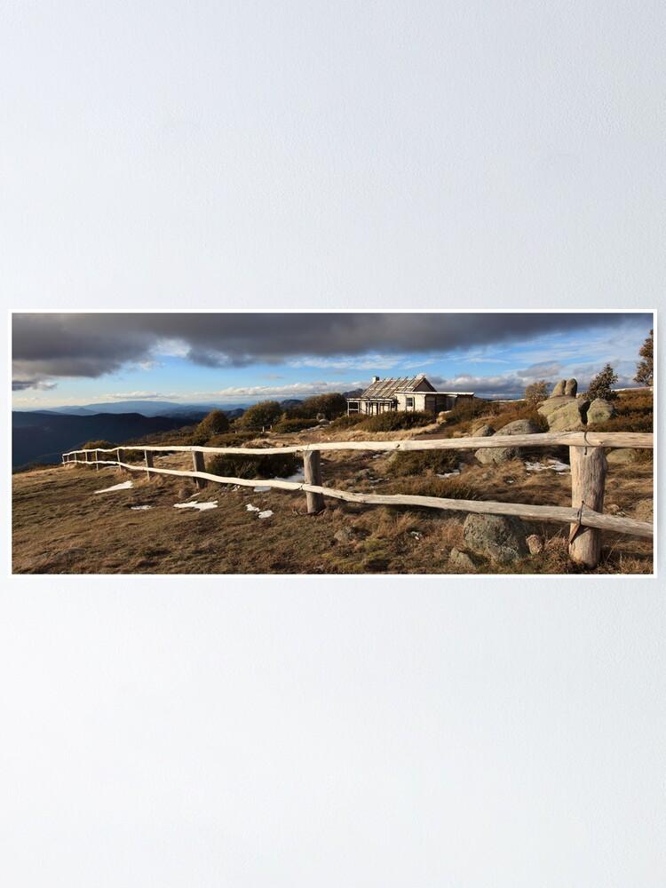 Alternate view of Craig's Hut, Winter Afternoon, Mt Stirling, Australia Poster