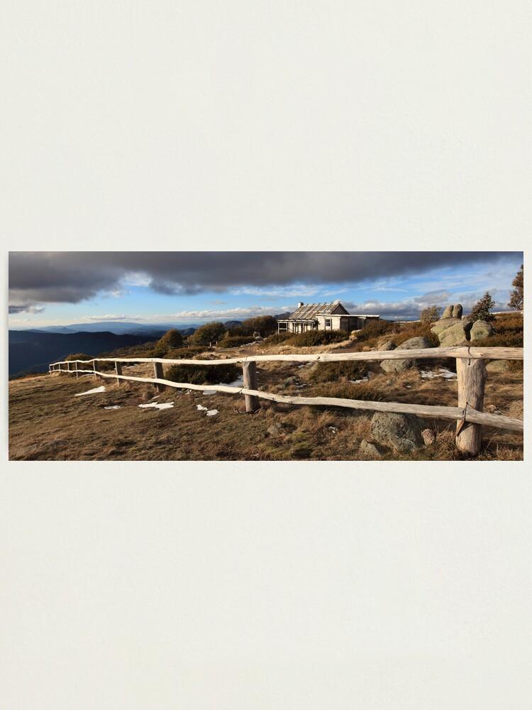 Alternate view of Craig's Hut, Winter Afternoon, Mt Stirling, Australia Photographic Print
