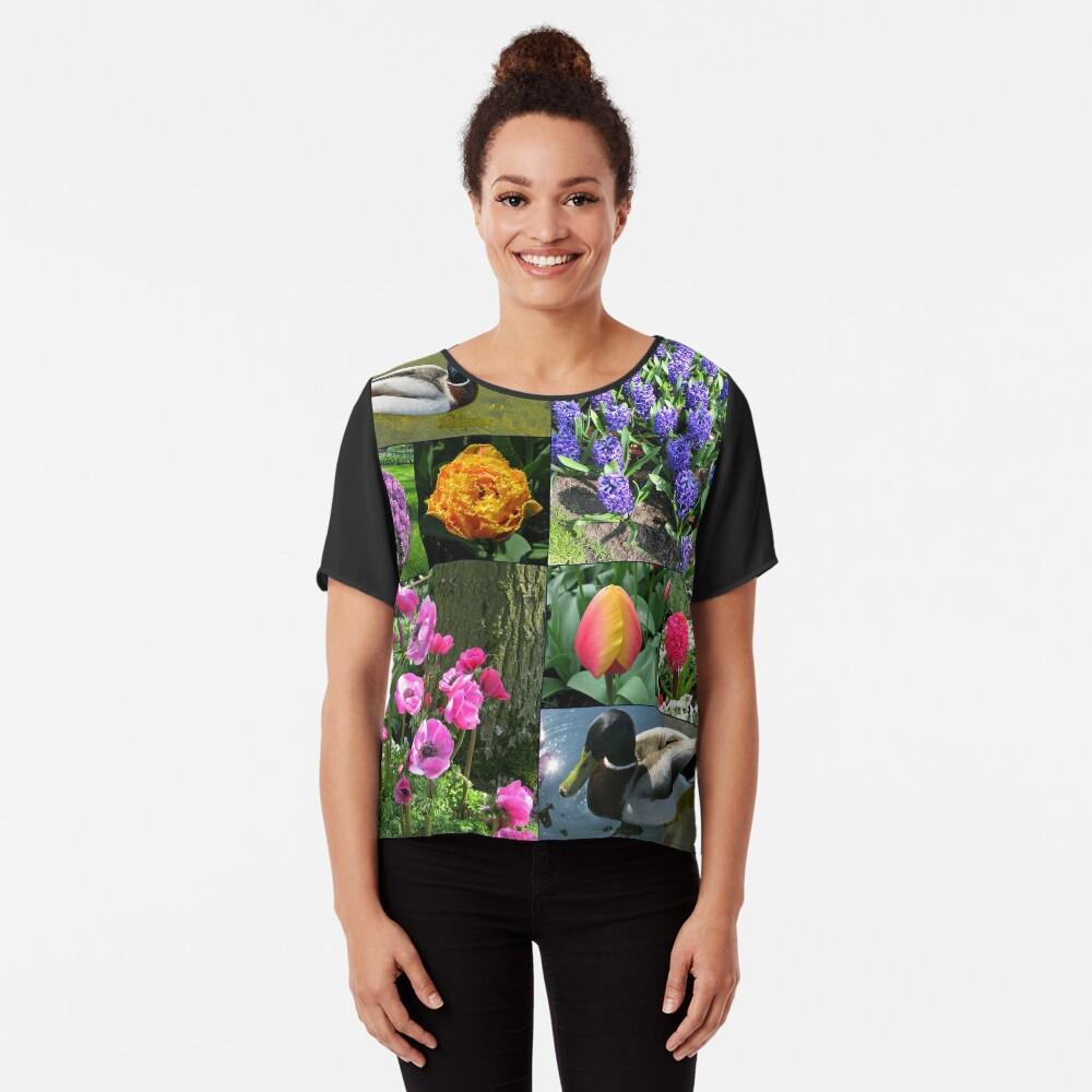 Flowers and Feathers - Keukenhof Collage Chiffon Top