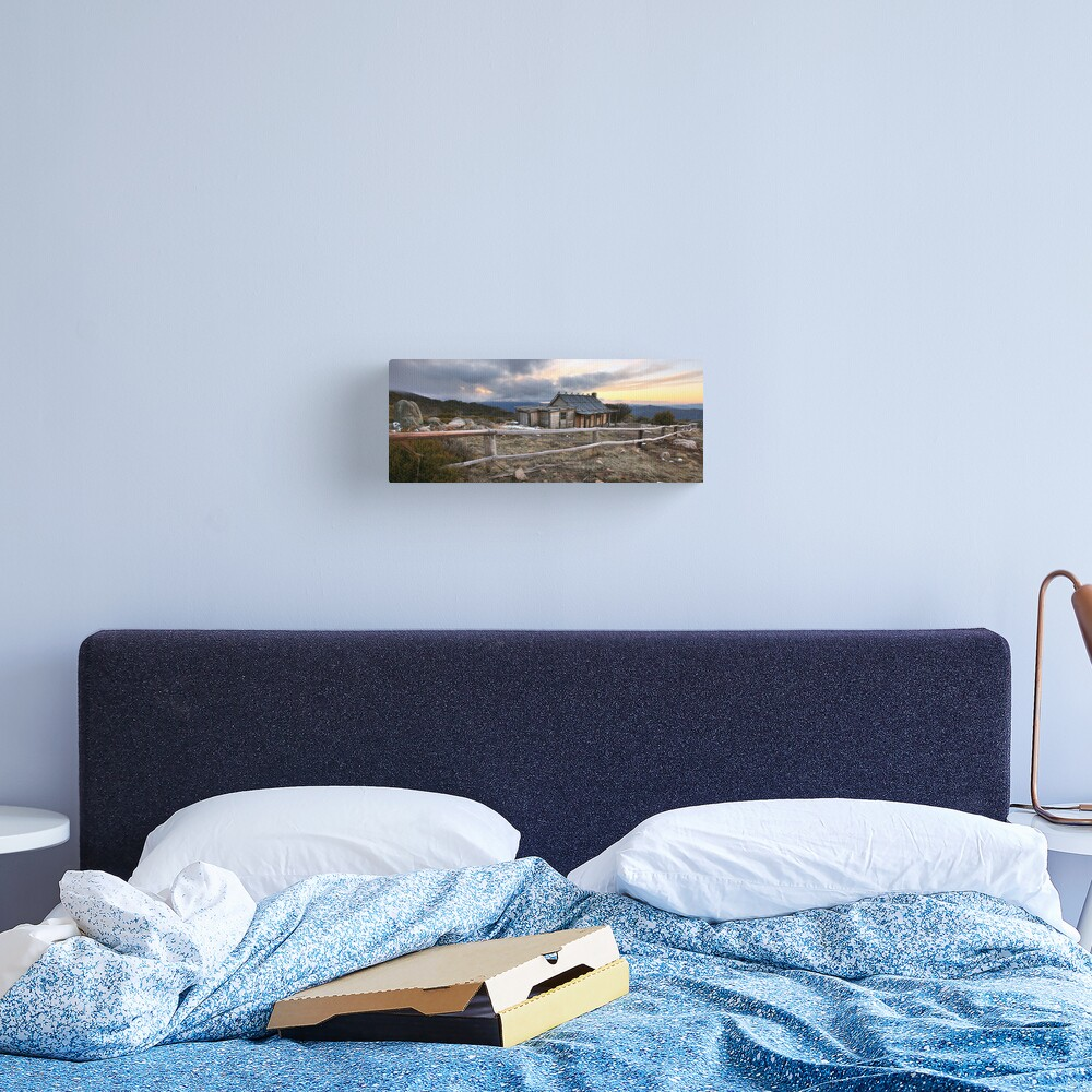 Craig's Hut Winter Evening, Mt Stirling, Australia Canvas Print
