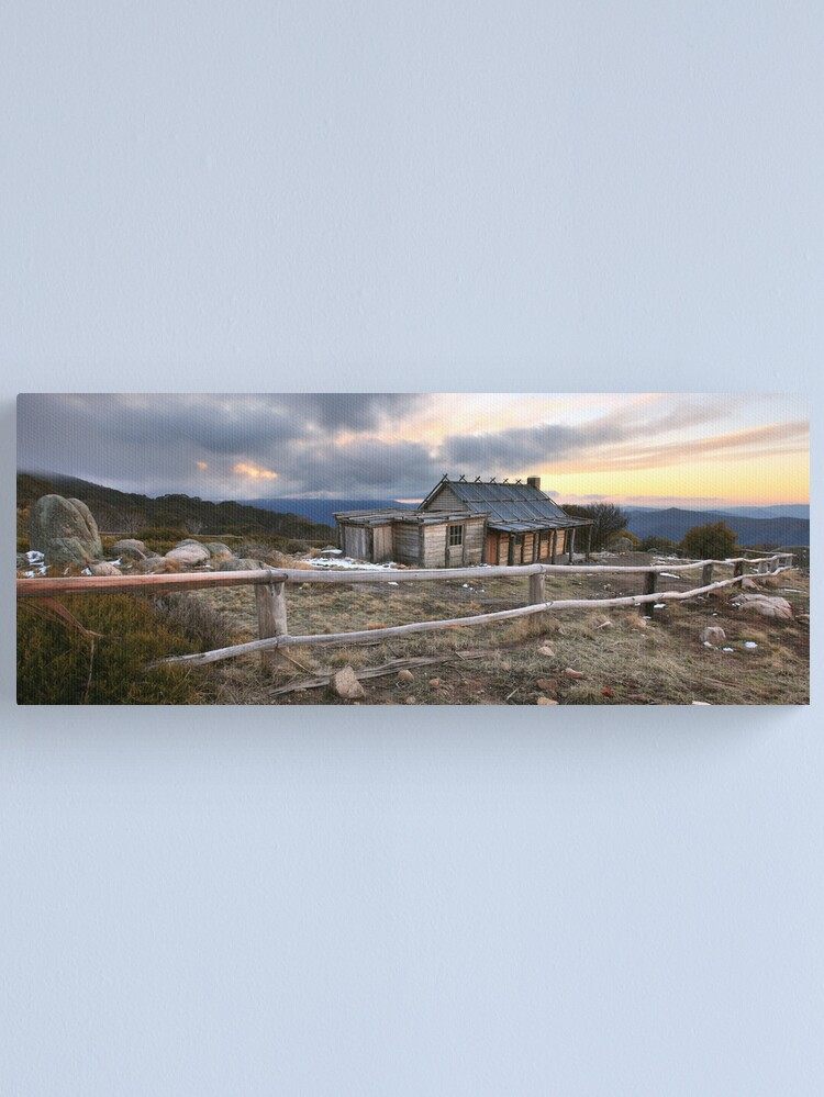 Alternate view of Craig's Hut Winter Evening, Mt Stirling, Australia Canvas Print