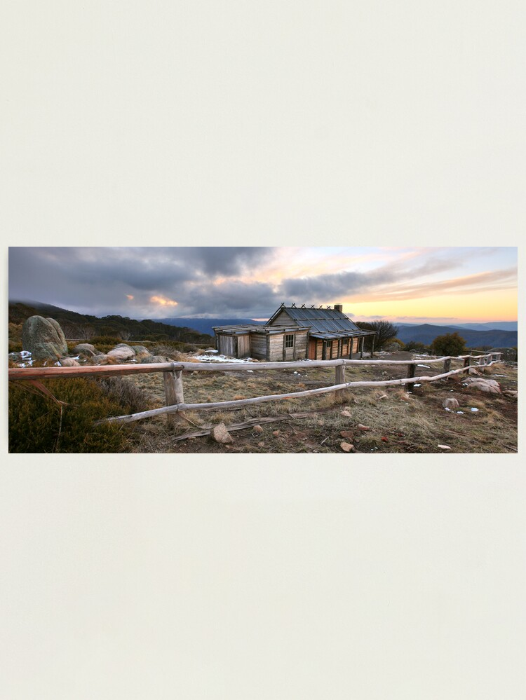 Alternate view of Craig's Hut Winter Evening, Mt Stirling, Australia Photographic Print