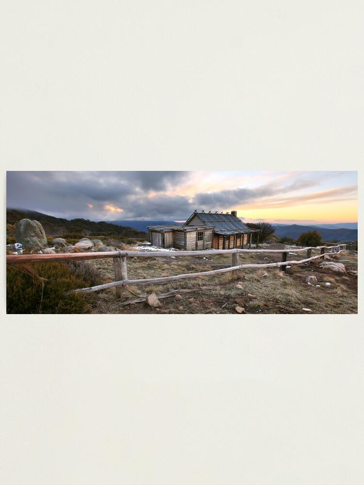 Alternate view of Craig's Hut Winter Evening, Mt Stirling, Australia Photographic Print