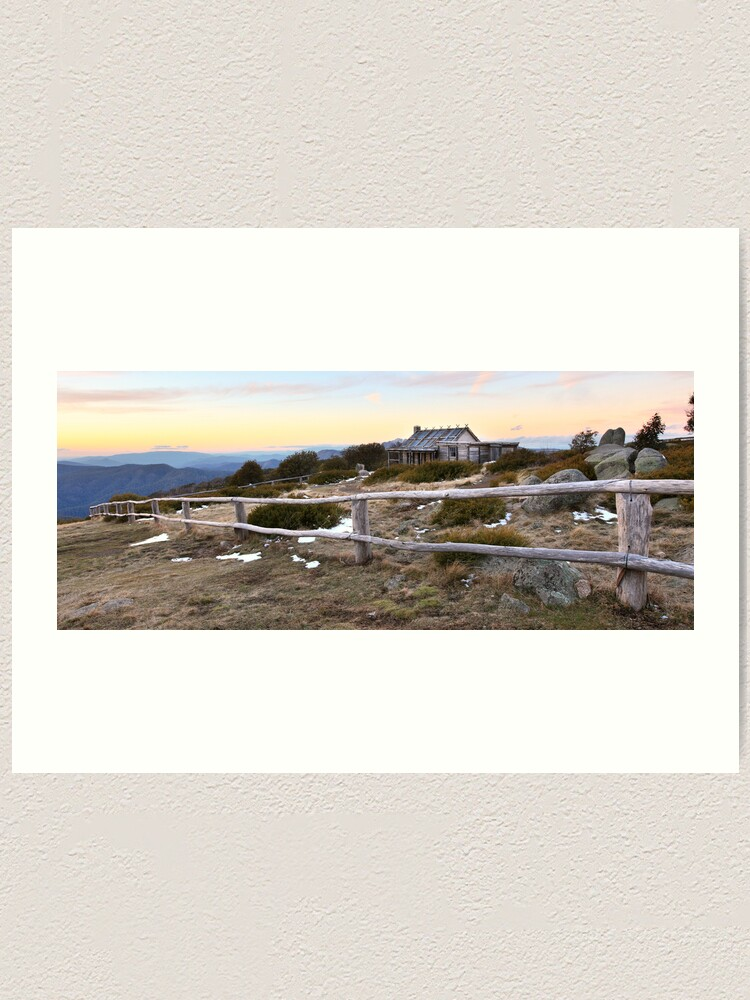 Alternate view of Craig's Hut Winter Evening, Mt Stirling, Australia Art Print