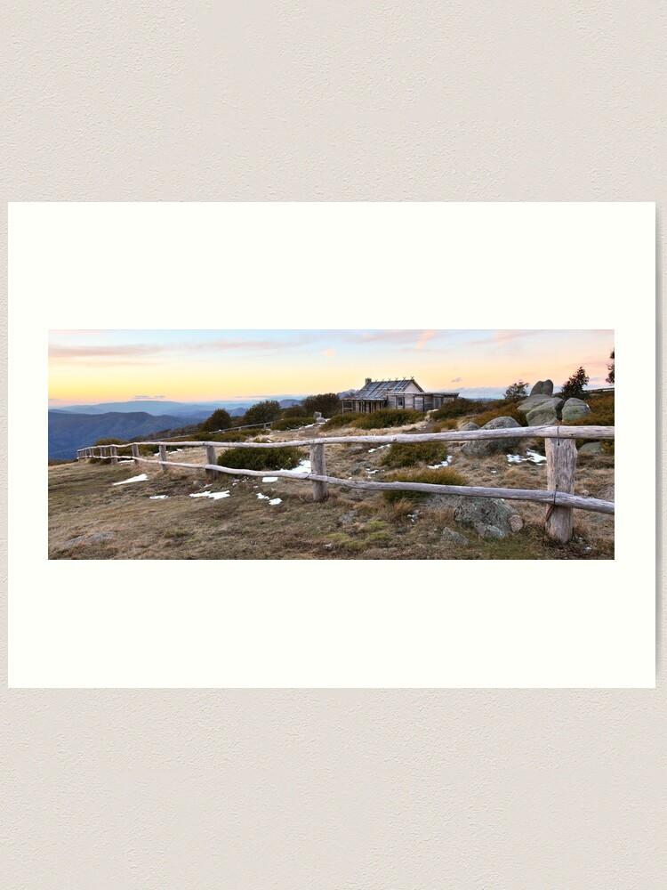 Alternate view of Craig's Hut Winter Evening, Mt Stirling, Australia Art Print