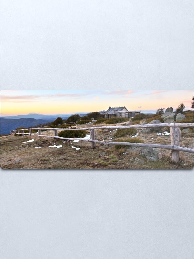 Alternate view of Craig's Hut Winter Evening, Mt Stirling, Australia Metal Print