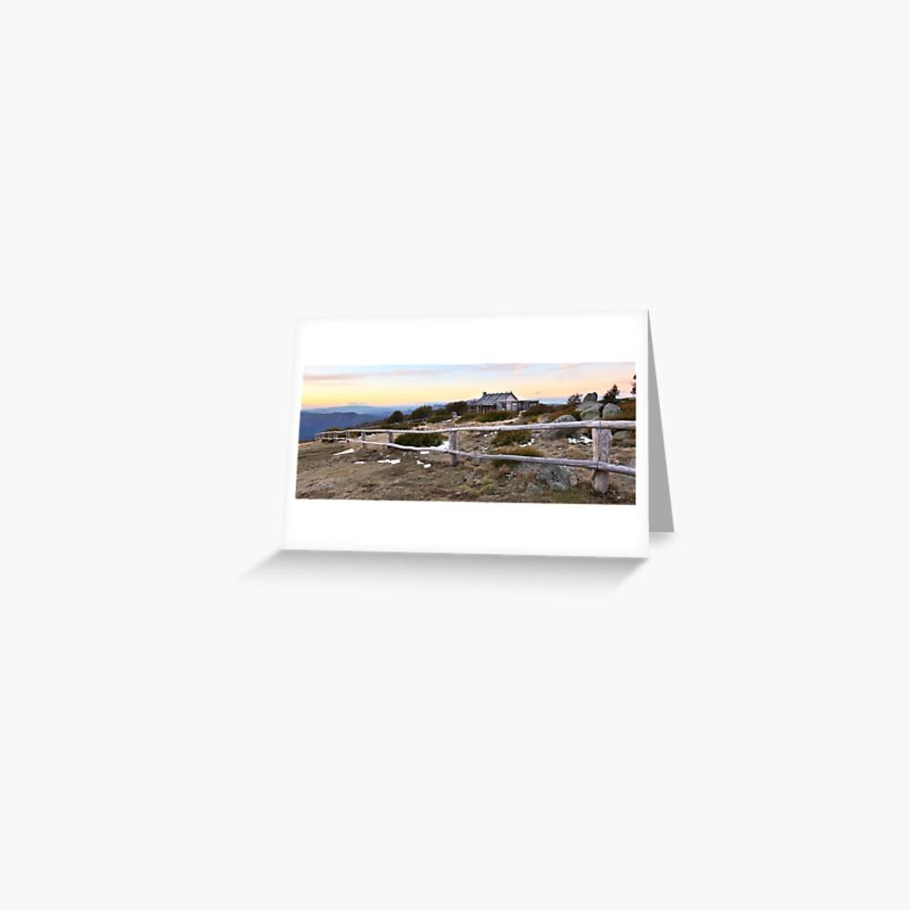 Craig's Hut Winter Evening, Mt Stirling, Australia Greeting Card