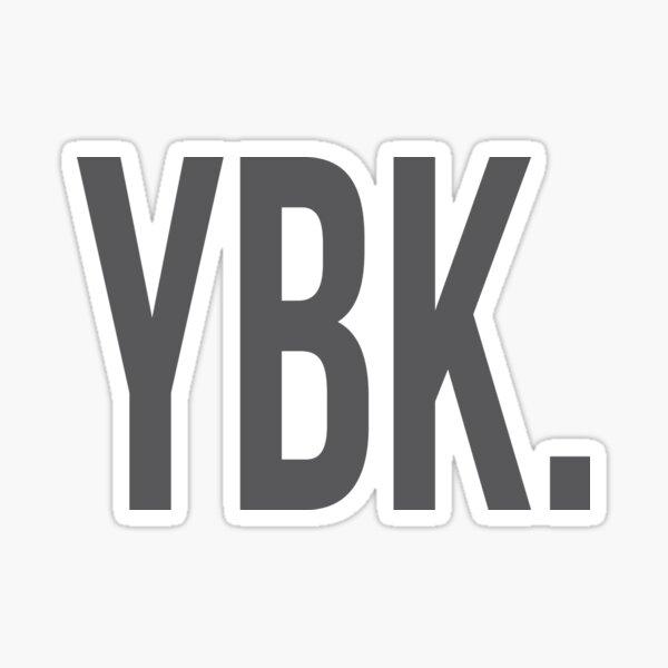 YBK Yearbook Grey Sticker