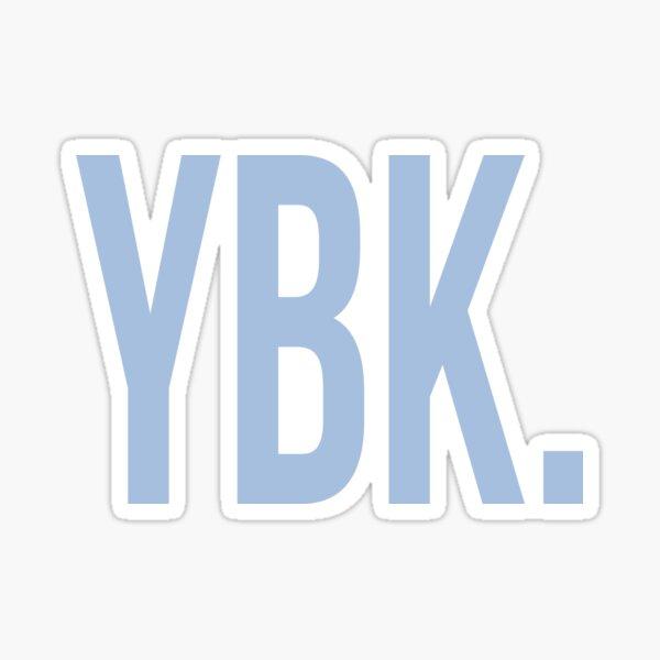 YBK Yearbook Blue Sticker