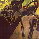 Vintage Car Driver..1920 Tachometer Advertisement  by edsimoneit