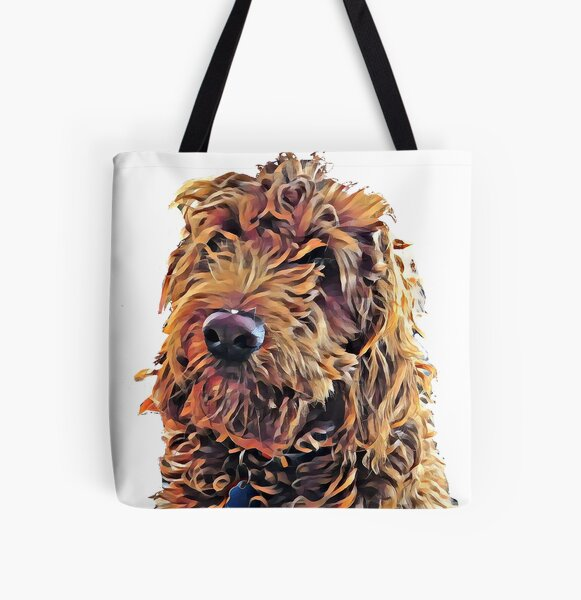 Goldendoodle Puppy All Over Print Tote Bag