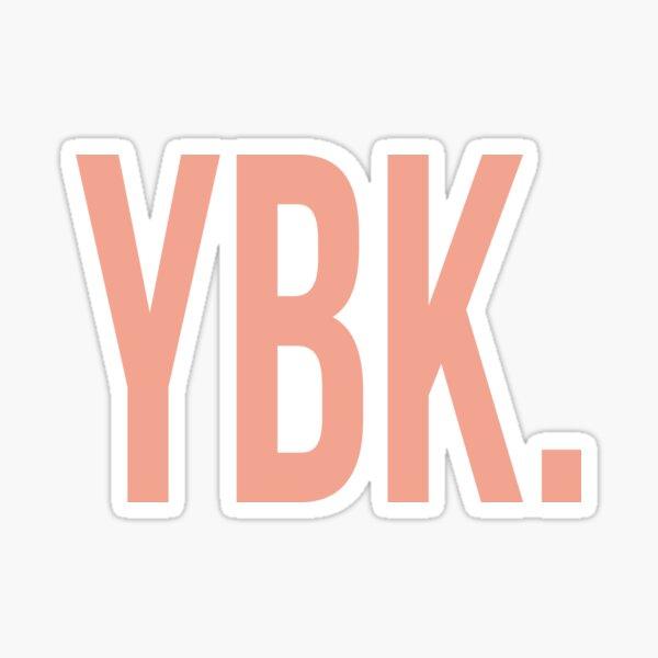 YBK Yearbook Orange Sticker