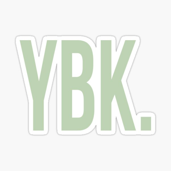 YBK Yearbook Green Sticker