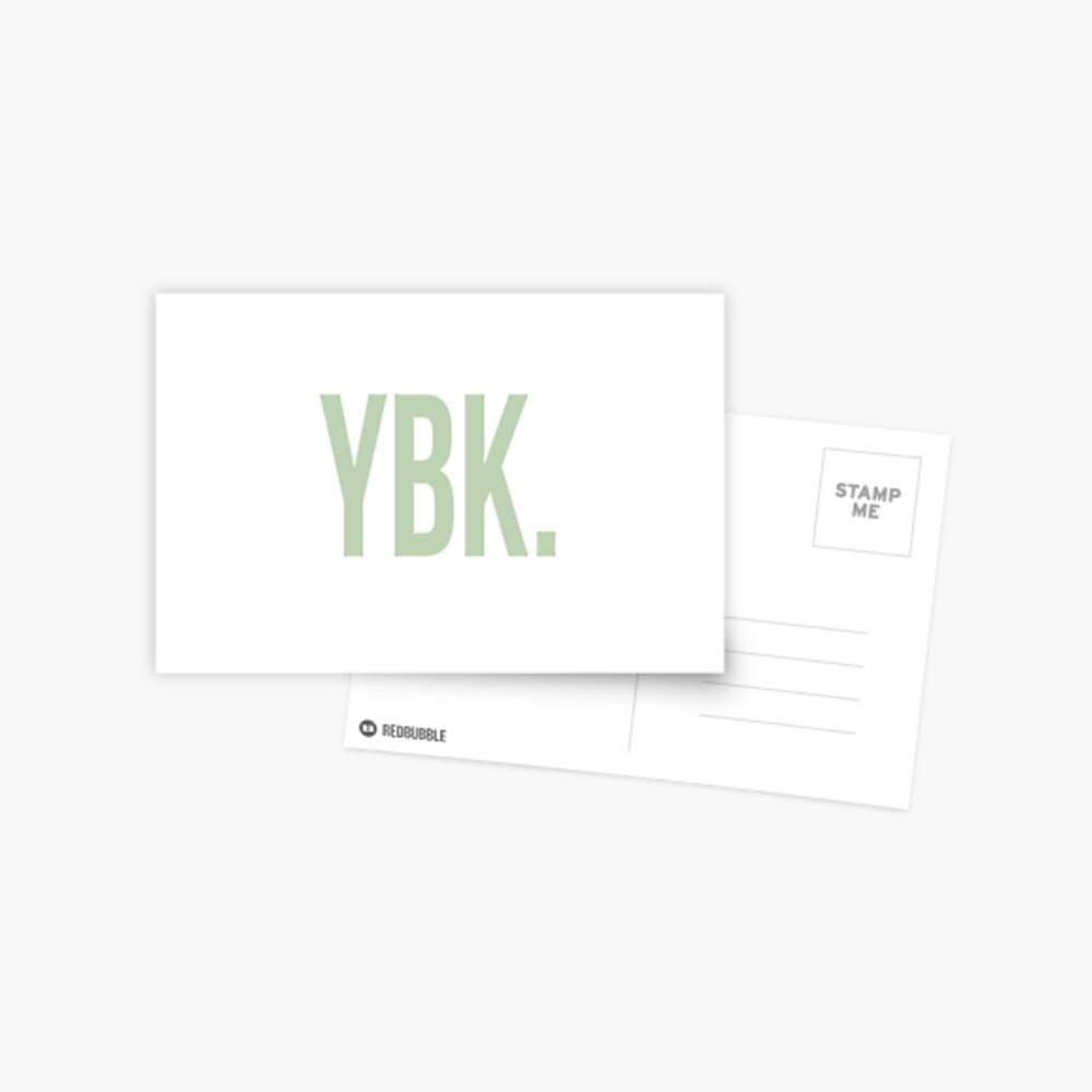 YBK-Jahrbuch Grün Postkarte