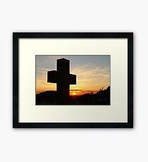 Breedon on the Hill Sunset Framed Print