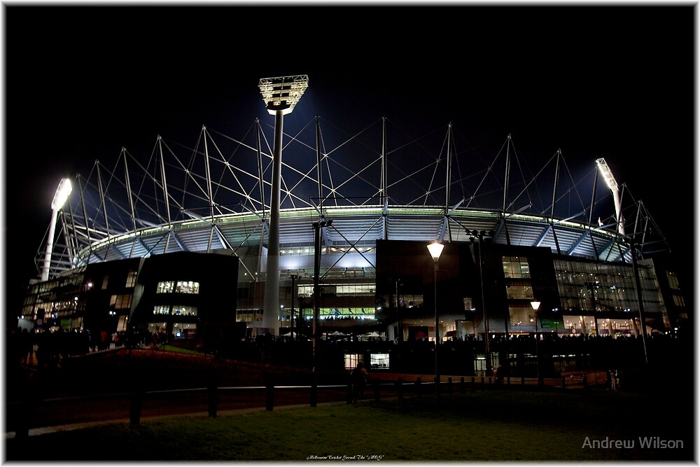 "Melbourne Cricket Ground, ""MCG"" by Andrew Wilson"