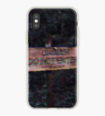 do not enter sign edit iPhone Case