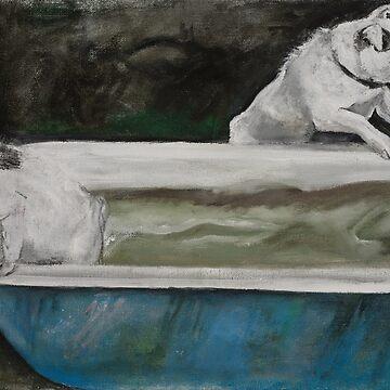 Dog bath I by bournemonkey