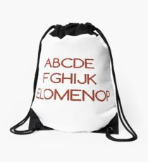 ABC's - Humor in The Alphabet  Drawstring Bag