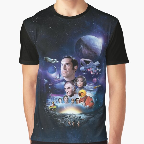 SPACE: 1999 ART-002  NO LOGO with nuclear explosion behind the Moon Graphic T-Shirt