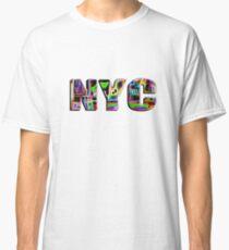 NYC (neon glow type on white) Classic T-Shirt