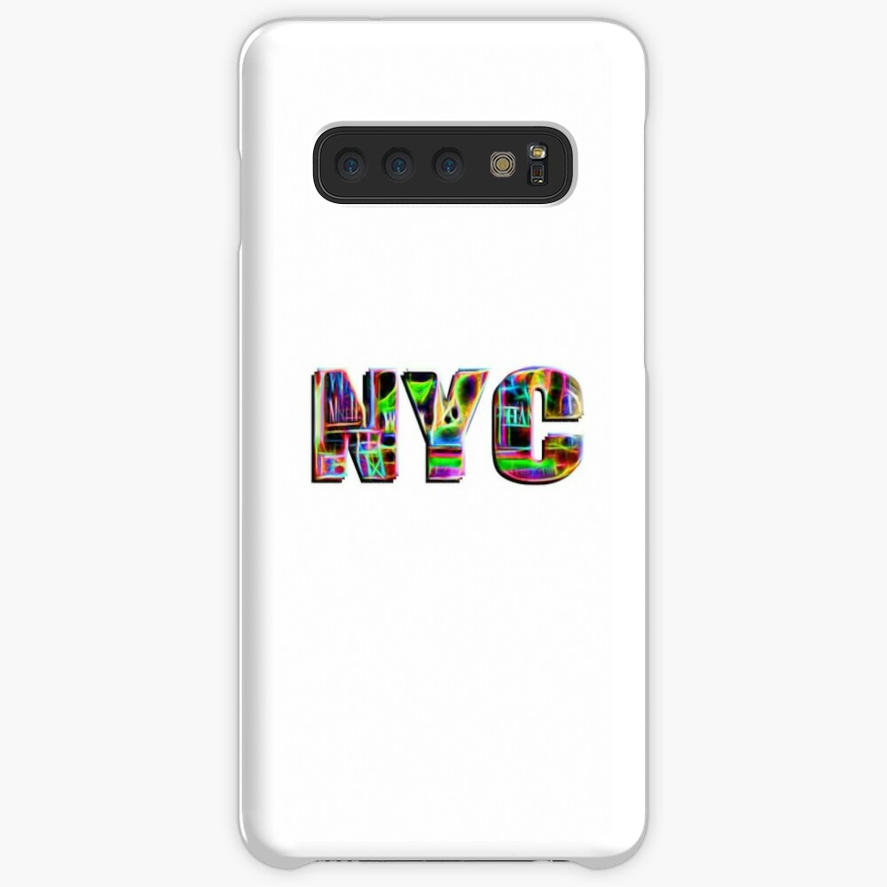 NYC (neon glow type on white) Case & Skin for Samsung Galaxy