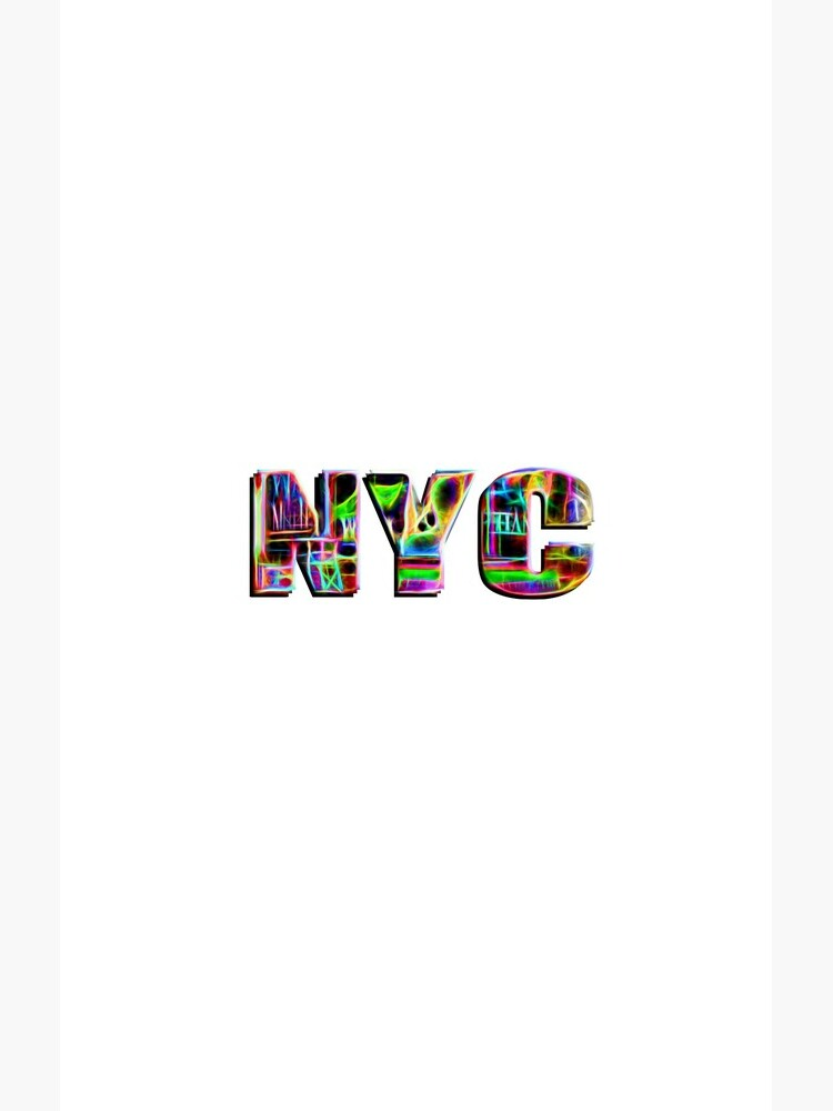 NYC (neon glow type on white) by RayW