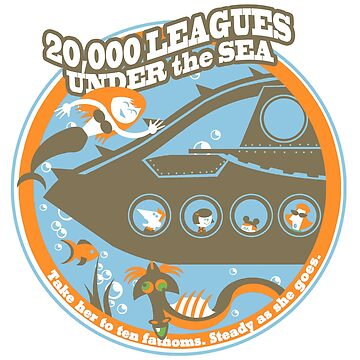 20,000 Leagues Under the Sea (orange, brown, and blue) by clockworkmonkey