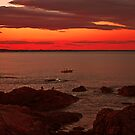 Twilight over Rocks by LudaNayvelt