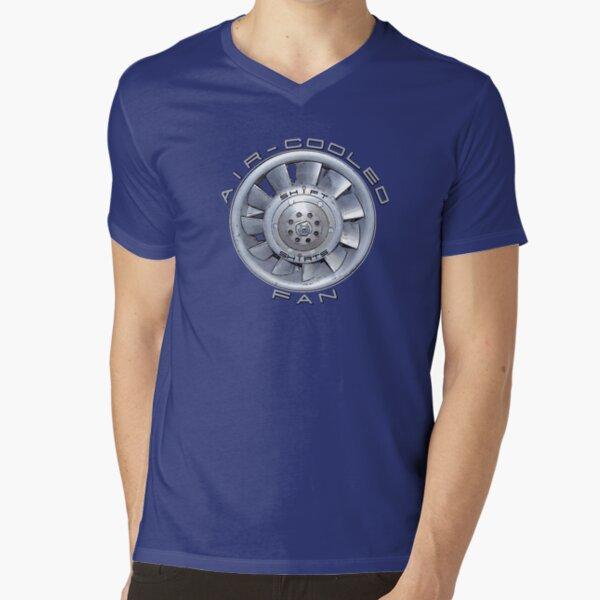 Air Cooled Fan  V-Neck T-Shirt