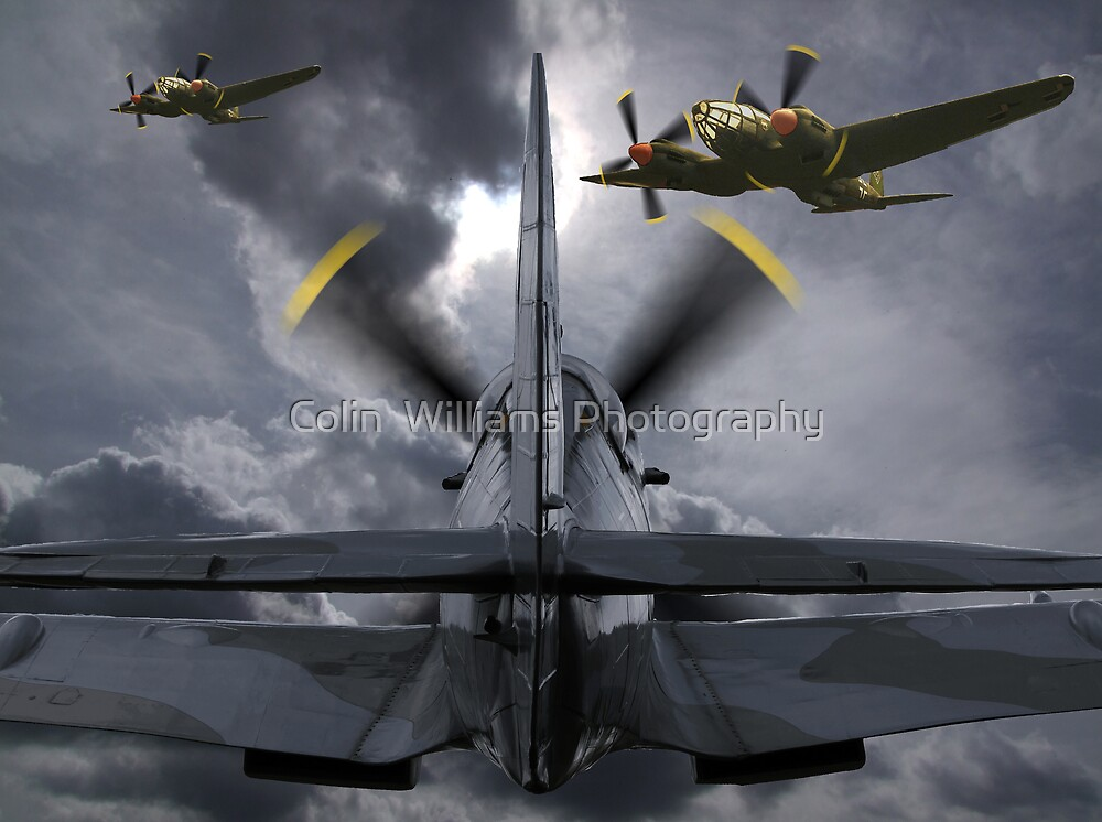 Attacking The Bombers by Colin  Williams Photography