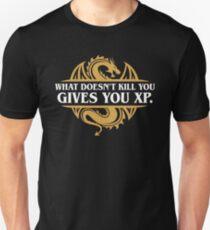 Camiseta ajustada Lo que no te mata te da jugadores RPG XP